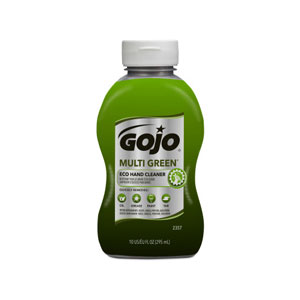 GOJO MULTI GREEN ECO Hand Cleaner 10floz Bottle SKU#GOJ2357-08, GOJO MULTI GREEN ECO Hand Cleaner 10floz Bottle SKU#GOJ2357-08