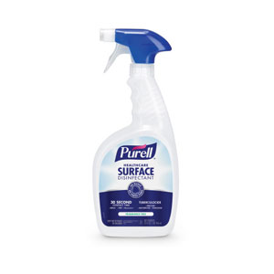 PURELL Healthcare Surface Disinfectant 32oz RTU Bottles w Triggers SKU#GOJ3340-12, GOJO PURELL Healthcare Surface Disinfectant 32oz RTU Sealed Flip-Cap Bottles w Triggers SKU#GOJ3340-12