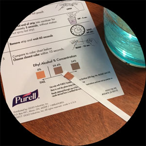 PURELL Surface Spray Active Ingredient Test Strips SKU#GOJ3341-6CTSTRP, GOJO PURELL Surface Spray Active Ingredient Test Strips SKU#GOJ3341-6CTSTRP