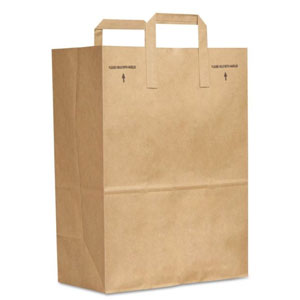 General Paper 1/6 Brown Kraft Paper Grocery Bag w Handle SKU#BAGSK1670EZ300, General Paper 1/6 Brown Kraft Paper Grocery Bag w Handle SKU#BAGSK1670EZ300