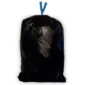 Black 44 Gallon Super-Duty Blue Collar Garbage Bags SKU#HER N7447SK, Heritage Bags Black 44 Gallon Super-Duty Blue Collar Garbage Bags SKU#HERN7447SK