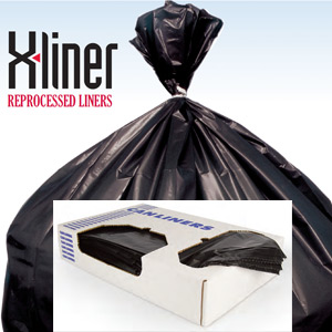 Black 60 Gallon Super-Duty X-Liner Reprocessed Trash Can Liners SKU#HER X7658AK, Heritage Bags Black 60 Gallon Super-Duty X-Liner Reprocessed Trash Can Liners SKU#HERX7658AK