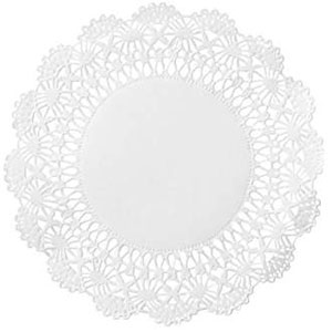 Hoffmaster 5in Cambridge White Lace Doily SKU#HFM500234, Hoffmaster 5in Cambridge White Lace Doily SKU#HFM500234