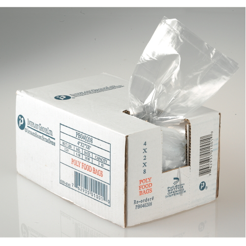 Inteplast Food Utility Poly Bag 4-Quart SKU#IBSPB080315, Inteplast Food Utility Poly Bags 4-Quart SKU#IBSPB080315