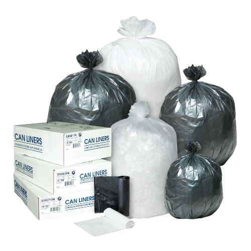 Inteplast Commercial 40 To 45 Gal Coreless Roll Can Liner SKU#IBSS404817K, Inteplast Commercial 40 To 45 Gallon Coreless Roll Can Liners SKU#IBSS404817K