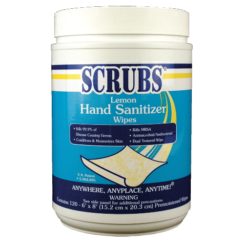 Antimicrobial SCRUBS Hand Sanitizer Wipes SKU#DYM92991CT, ITW Antimicrobial SCRUBS Hand Sanitizer Wipes SKU#DYM92991CT