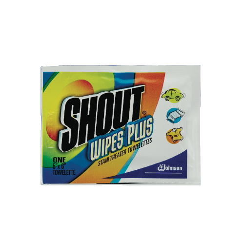 Shout Wipes Plus Stain Treater Towelette SKU#DRK94354, Diversey Shout Wipes Plus Stain Treater Towelettes SKU#DRK94354