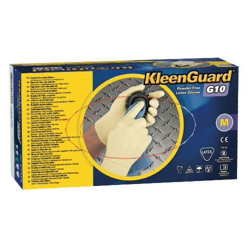 KLEENGUARD G10 Powder-Free Latex Glove SKU#KCC57172, Kimberly Clark KLEENGUARD G10 Powder-Free Latex Gloves SKU#KCC57172