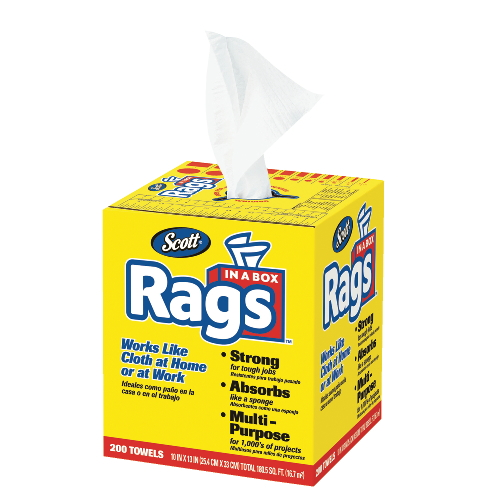 Scott Rags in-a-Box SKU#KCC75260CT, Kimberly Clark Scott Rags in-a-Box SKU#KCC75260CT