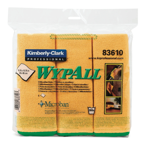 WYPALL Microfiber Cloth w Protection SKU#KCC83610CT, Kimberly Clark WYPALL Microfiber Cloths with Protection SKU#KCC83610CT