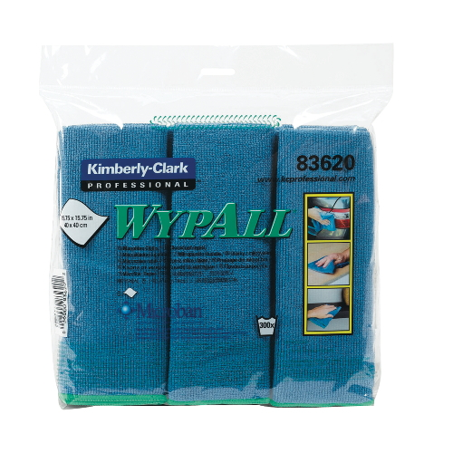 WYPALL Microfiber Cloth w Protection SKU#KCC83620CT, Kimberly Clark WYPALL Microfiber Cloths with Protection SKU#KCC83620CT