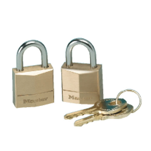 Master Twin Brass Three-Pin Tumbler Padlock SKU#MAS120-T, Master Twin Brass Three-Pin Tumbler Padlocks SKU#MAS120-T
