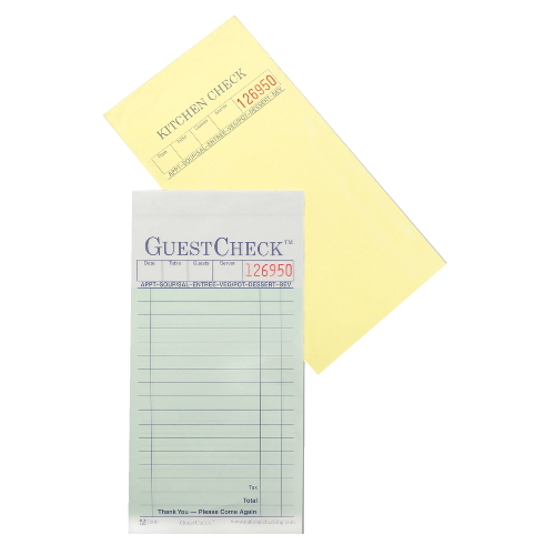 National GuestChecks Restaurant Guest Check Pad SKU#NTCA6000G, National GuestChecks Restaurant Guest Check Pads SKU#NTCA6000G