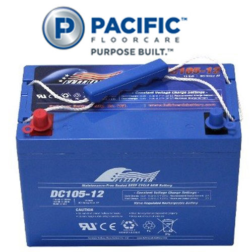 Pacific S-20 Automatic Scrubbers Accessory 105Ah AGM Battery SKU#PAC-851302, Pacific S-20 Auto Scrubber Accessory 105Ah AGM Battery SKU#PAC-851302