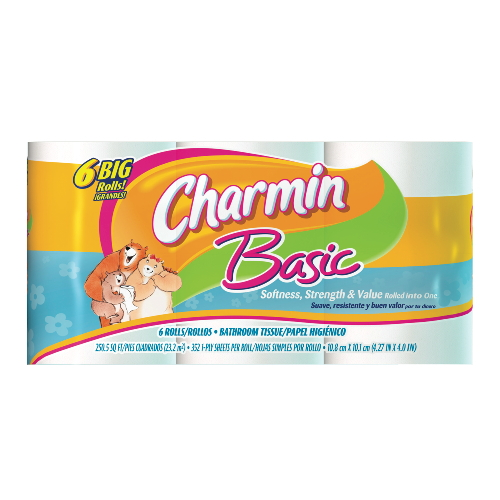Charmin Basic Big Roll Bathroom Tissue SKU#PGC23458, Procter Gamble Charmin Basic Big Roll Bathroom Tissue SKU#PGC23458