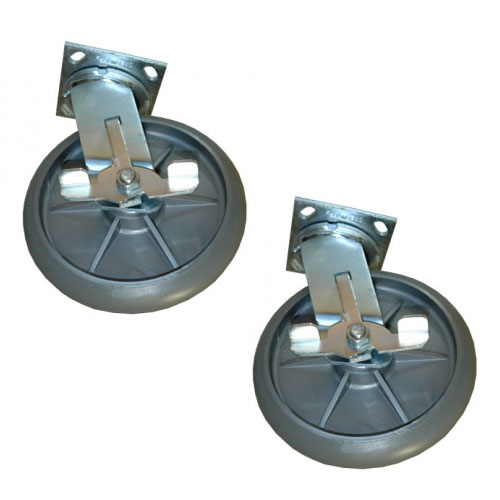 Rubbermaid Commercial Full Size Housekeeping Carts 8 Inch Replacement Swivel Caster SKU#RCP6189-02, Rubbermaid Commercial Full Size Housekeeping Cart 8 Inch Replacement Swivel Caster SKU#RCP6189-02
