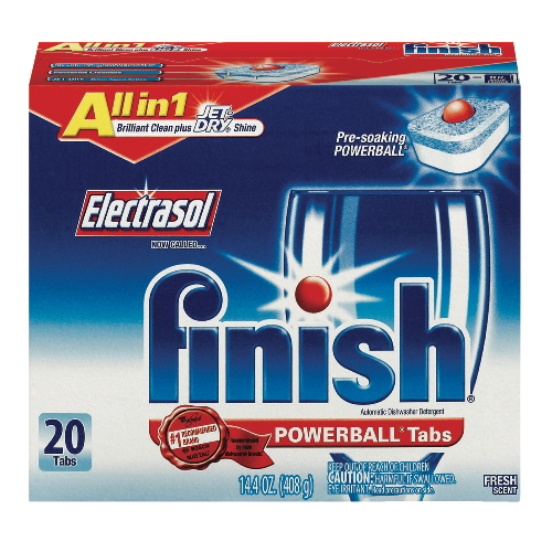 Reckitt Benckiser Electrasol Finish PowerBall Tabs w Jet Dry Rinse Agent Automatic Dishwasher Detergent SKU#REC77050, Reckitt Benckiser Electrasol Finish PowerBall Tabs with Jet Dry Rinse Agent Automatic Dishwasher Detergent SKU#REC77050