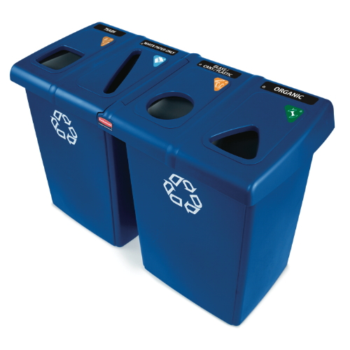 Rubbermaid Glutton Waste & Recycling Stations SKU#RCP256R-73BLU, Rubbermaid Glutton Waste & Recycling Station SKU#RCP256R-73BLU
