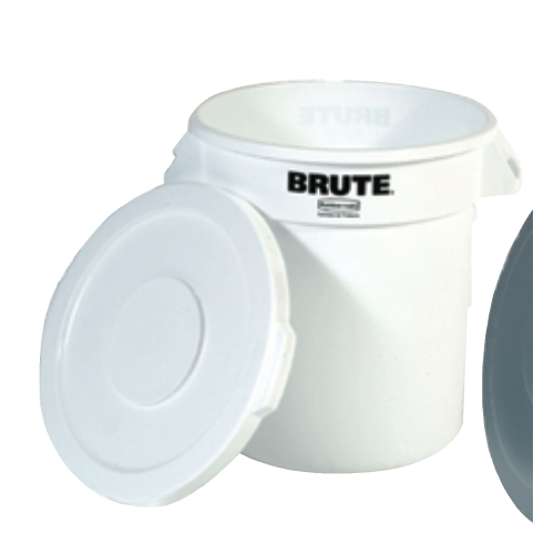 Rubbermaid Brute Round Container 10 Gal SKU#RCP2610WHI, Rubbermaid Brute Round Containers 10 Gallon SKU#RCP2610WHI