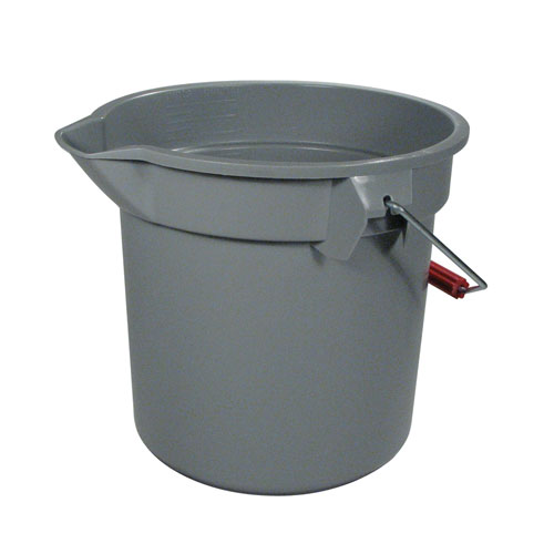 Rubbermaid Brute Round 14 Quart Plastic Bucket SKU#RCP2614GRA, Rubbermaid Brute Round 14 Quart Plastic Buckets SKU#RCP2614GRA