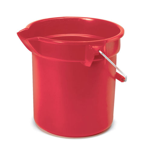 Rubbermaid Brute Round 14 Quart Plastic Bucket SKU#RCP2614RED, Rubbermaid Brute Round 14 Quart Plastic Buckets SKU#RCP2614RED