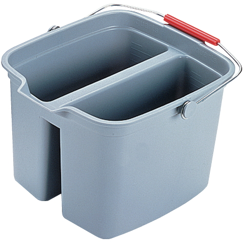 Rubbermaid Brute 17 Quart Plastic Bucket Double Pail SKU#RCP2617GRA, Rubbermaid Brute 17 Quart Plastic Bucket Double Pail SKU#RCP2617GRA