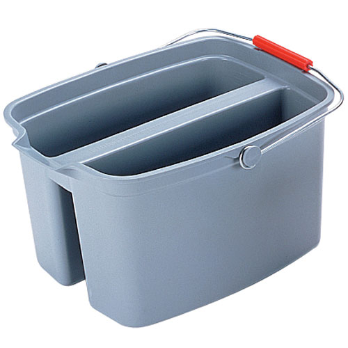 Rubbermaid Brute 19 Quart Plastic Bucket Double Pail SKU#RCP2628GRA, Rubbermaid Brute 19 Quart Plastic Bucket Double Pails SKU#RCP2628GRA