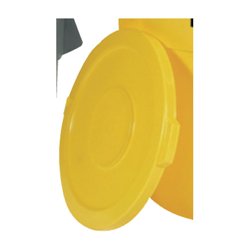 Rubbermaid Brute 32 Gal Round Container Lid SKU#RCP2631YEL, Rubbermaid Brute 32 Gallon Round Container Lids SKU#RCP2631YEL