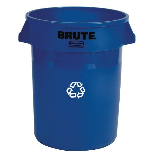 Rubbermaid Brute 32 Gal Round Recycling Container SKU#RCP2632-73BLU, Rubbermaid Brute 32 Gallon Round Recycling Containers SKU#RCP2632-73BLU