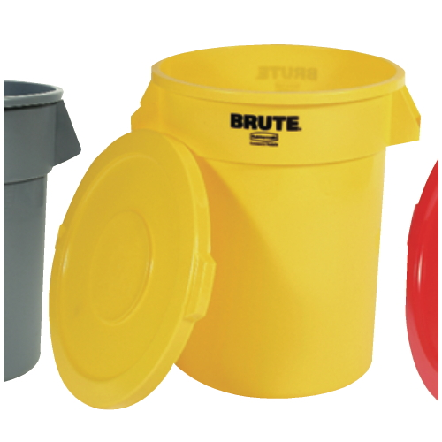 Rubbermaid Brute 32 Gal Round Container SKU#RCP2632YEL, Rubbermaid Brute 32 Gallon Round Containers SKU#RCP2632YEL