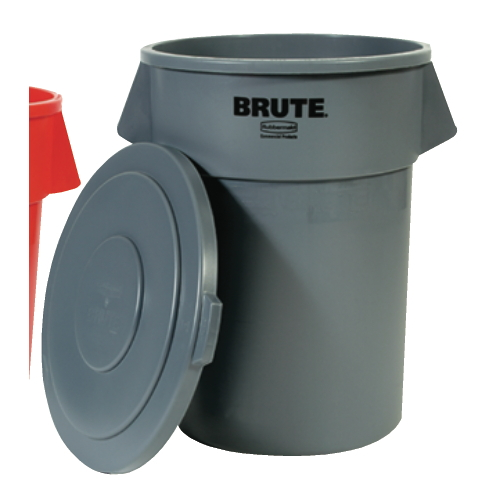 Rubbermaid Brute 55 Gal Round Container SKU#RCP2655GRA, Rubbermaid Brute 55 Gallon Round Containers SKU#RCP2655GRA