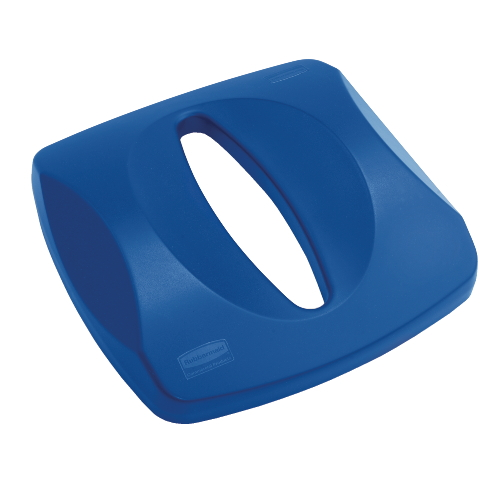 Rubbermaid Untouchable Paper Recycling Top For Square Recycling Container SKU#RCP2690BLU, Rubbermaid Untouchable Paper Recycling Top For Square Recycling Containers SKU#RCP2690BLU, Blue.