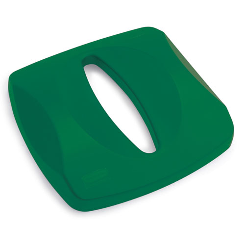 Rubbermaid Commercial Untouchable Paper Recycling Tops for 3569 Containers SKU#RCP2690, Rubbermaid Commercial Untouchable Paper Recycling Top for 3569 Containers SKU#RCP2690, Green