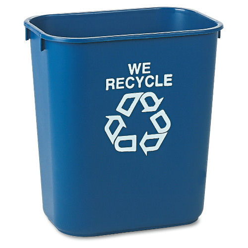 Rubbermaid Deskside Paper Recycling Container SKU#RCP2956-73BLU, Rubbermaid Deskside Paper Recycling Containers SKU#RCP2956-73BLU