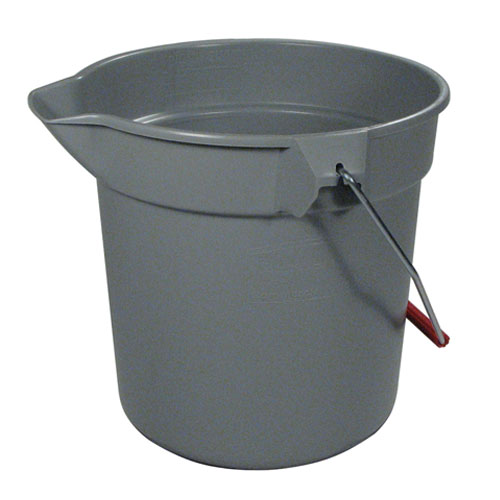 Rubbermaid Brute 10 Quart Round Plastic Bucket SKU#RCP2963GRA, Rubbermaid Brute 10 Quart Round Plastic Buckets SKU#RCP2963GRA