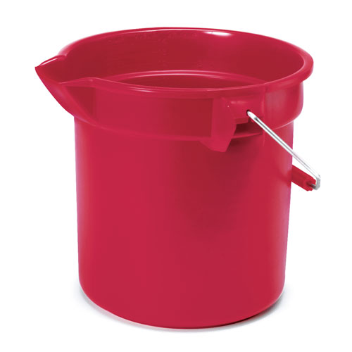 Rubbermaid Brute 10 Quart Round Plastic Bucket SKU#RCP2963RED, Rubbermaid Brute 10 Quart Round Plastic Buckets SKU#RCP2963RED