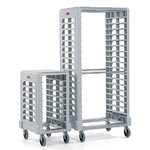 Rubbermaid Commercial Max System Prep Carts w Cutting Boards (8 slot end loader for full size insert pans) SKU#RCP3315OWHT, Rubbermaid Commercial Max System Prep Cart with Cutting Board (Shown left - 8 slot end loader for full size insert pans) SKU#RCP3315OWHT