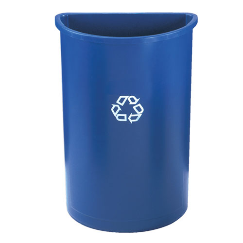 Rubbermaid Commercial Half Round Recycling Containers SKU#RCP3520-73, Rubbermaid Commercial Half Round Recycling Container SKU#RCP3520-73
