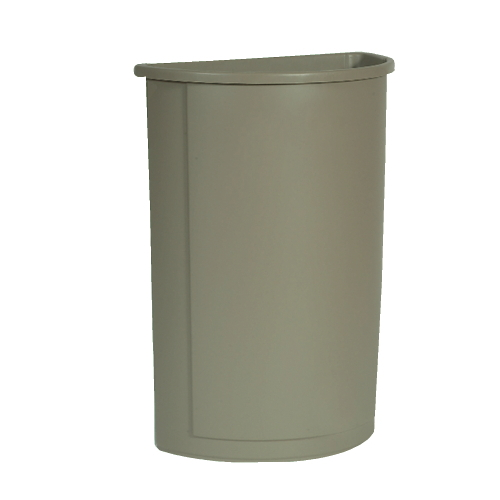 Rubbermaid Untouchable Half Round Waste Container SKU#RCP3520BEI, Rubbermaid Untouchable Half Round Waste Container SKU#RCP3520BEI