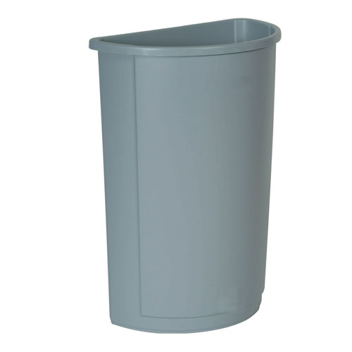Rubbermaid Untouchable Half Round Waste Container SKU#RCP3520GRA, Rubbermaid Untouchable Half Round Waste Container SKU#RCP3520GRA