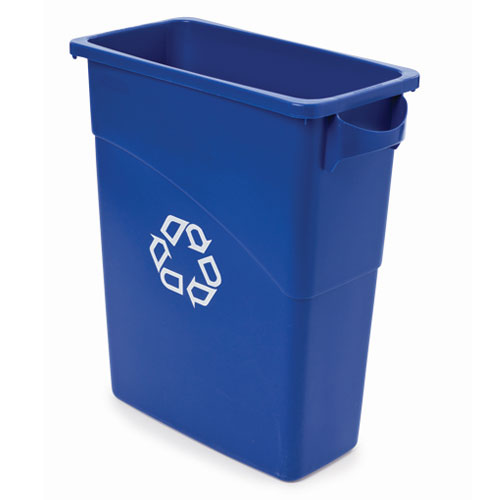 Rubbermaid 15.8 Gal Slim Jim Recycling Container SKU#RCP3541-73BLU, Rubbermaid 15.8 Gallon Slim Jim Recycling Containers SKU#RCP3541-73BLU
