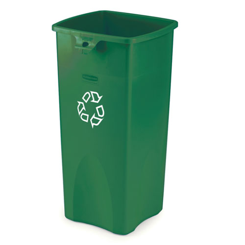Rubbermaid Commercial Untouchable Square Recycling Containers SKU#RCP3569-07, Rubbermaid Commercial Untouchable Square Recycling Container SKU#RCP3569-07