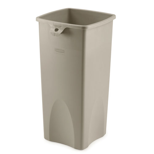 Rubbermaid Untouchable 23 Gal Square Container SKU#RCP3569-88BEI, Rubbermaid Untouchable 23 Gallon Square Containers SKU#RCP3569-88BEI