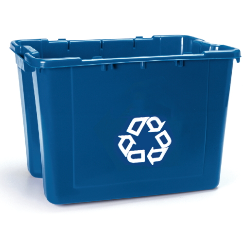Rubbermaid Recycling Boxes SKU#RCP5714-73BLU, Rubbermaid Recycling Box SKU#RCP5714-73BLU