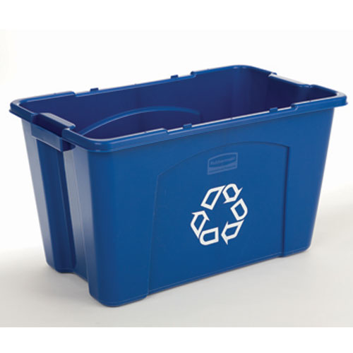 Rubbermaid Recycling Boxes SKU#RCP5718-73BLU, Rubbermaid Recycling Box SKU#RCP5718-73BLU