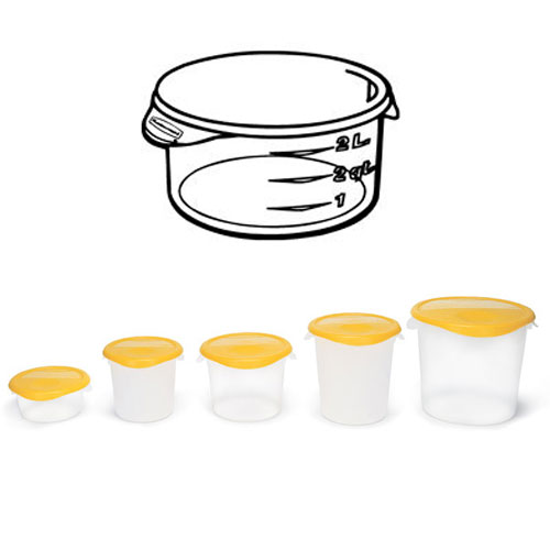 Rubbermaid Round Storage Container SKU#RCP5720-24CLE, Rubbermaid Round Storage Containers SKU#RCP5720-24CLE