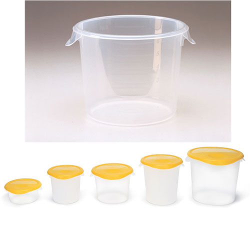 Rubbermaid Round Storage Container SKU#RCP5723-24CLE, Rubbermaid Round Storage Containers SKU#RCP5723-24CLE