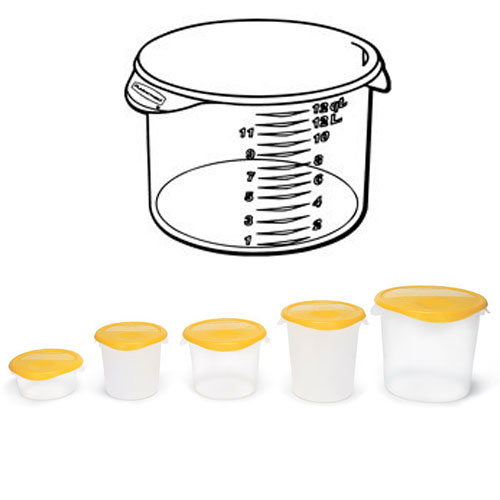 Rubbermaid Round Storage Container SKU#RCP5726-24CLE, Rubbermaid Round Storage Containers SKU#RCP5726-24CLE