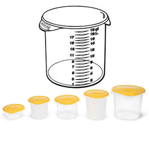 Rubbermaid Commercial Round Storage Containers SKU#RCP5727, Rubbermaid Commercial Round Storage Container SKU#RCP5727