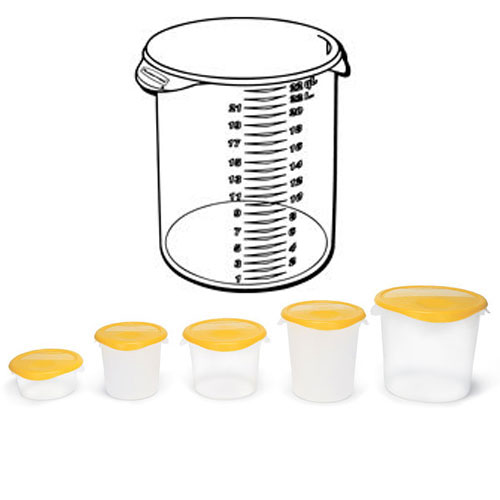 Rubbermaid Round Storage Container SKU#RCP5728-24CLE, Rubbermaid Round Storage Containers SKU#RCP5728-24CLE
